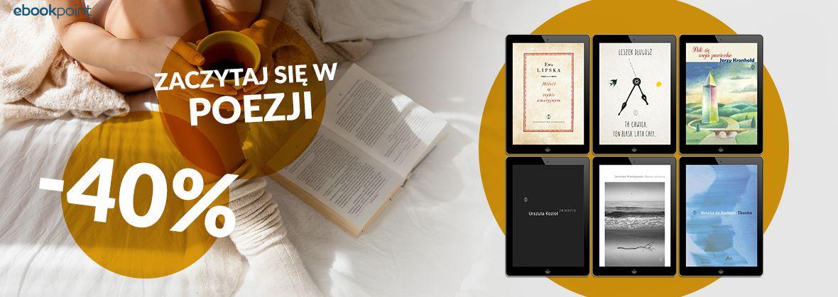 Promocja na ebooki Zaczytaj się w poezji! / -40%